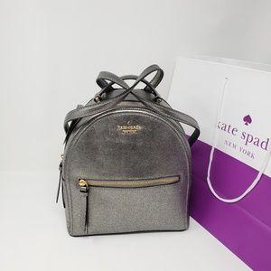 Brand New Kate Spade Metallic Backpack MSRP $300